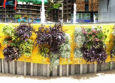 Jardín vertical en Andorra